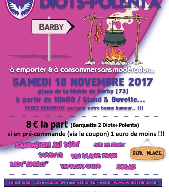 Vente DIOTS-POLENTA : Samedi 18 Novembre 2017