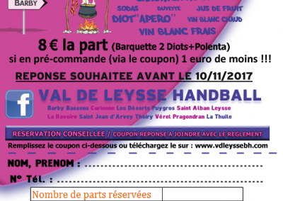Coupon reservation Diots-Polenta