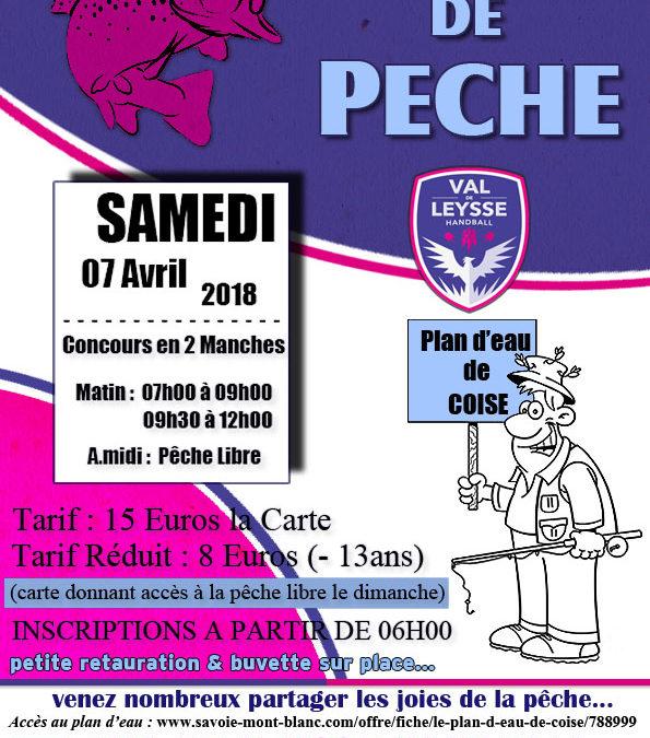 Concours de Pêche : SAMEDI 7 AVRIL 2018