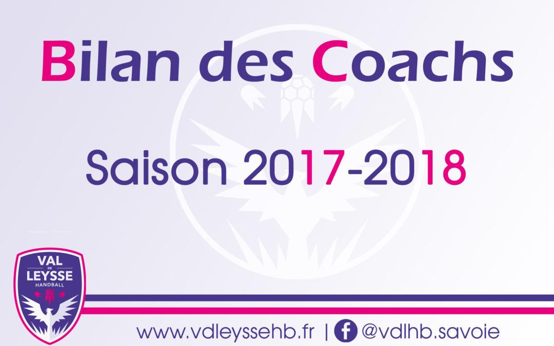 Bilan des coachs – Saison 2017-2018
